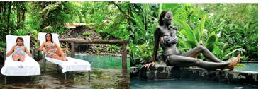 Bain de boue thermique à La Fortuna au Costa Rica