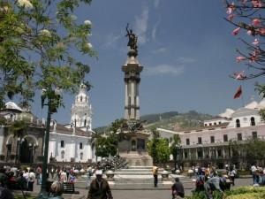 Centre de Quito en Équateur