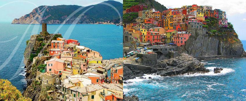 Vur panoramique de Cinque Terre en Italie