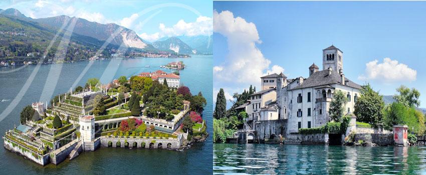 Isola Bella, Stresa et Lac d'Orta en Italie