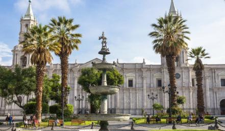 Centre Ville Arequipa en programme d'immersion espagnol au Pérou