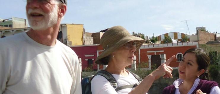 Touristes en séjour d'immersion en espagnol à Arequipa au Pérou