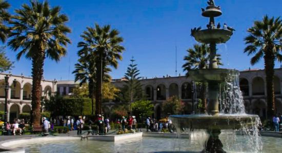 Plaza de Armas à Arequipa au Pérou