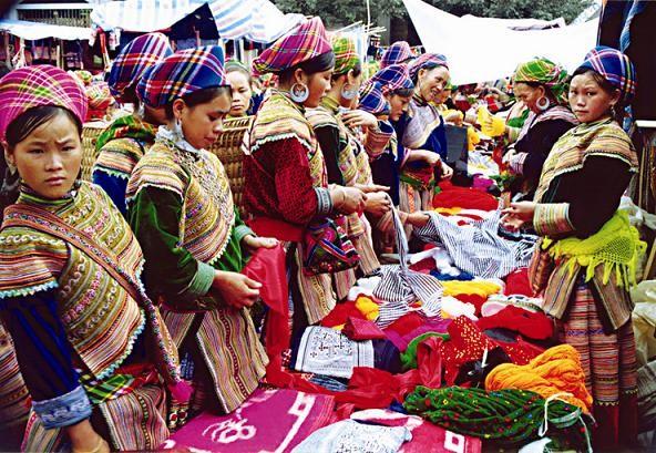 Marché Ethnique à Sapa en voyage au Vietnam