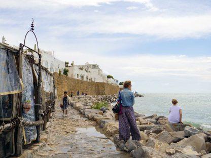 Bord de l'eau dans la medina d'Hammamet en Tunisie