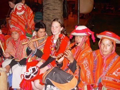Activité de musique dans le programme d'immersion en espagnol à Cusco au Pérou