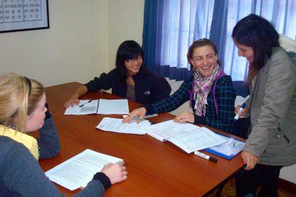 Classe dans le programme d'immersion en espagnol à Cusco au Pérou