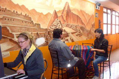 Cuisine de l'école dans le programme d'immersion en espagnol à Cusco au Pérou