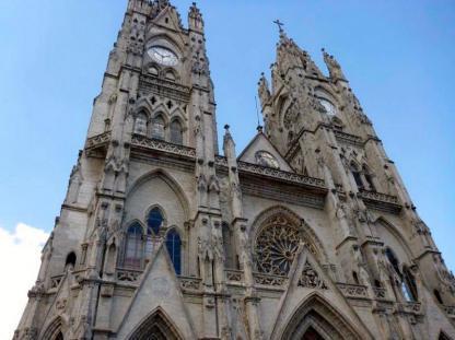 Église à Quito en voyage d'immersion en espagnol en Équateur