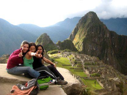 Étudiants sur la montagne dans le programme d'immersion en espagnol à Cusco au Pérou