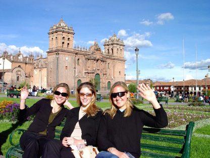Étudiants en visite dans le programme d'immersion en espagnol à Cusco au Pérou