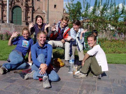 Étudiants heureux dans le programme d'immersion en espagnol à Cusco au Pérou