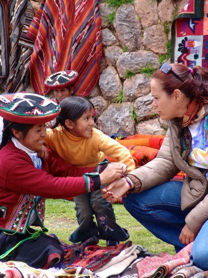 Famille péruvienne dans le programme d'immersion en espagnol à Cusco au Pérou
