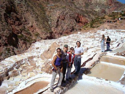 Groupe en visite dans le programme d'immersion en espagnol à Cusco au Pérou