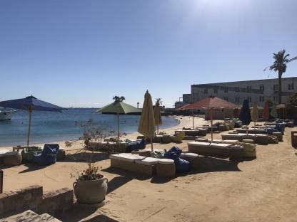 La plage de Gouna à Hurghada Mongolfière à Louxor en voyage en Égypte