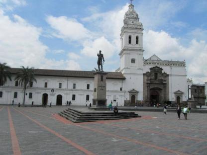 Plaza à Quito en voyage d'immersion espagnol en Équateur