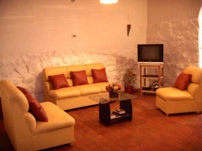 Salon dans la maison dans le programme d'immersion en espagnol à Cusco au Pérou