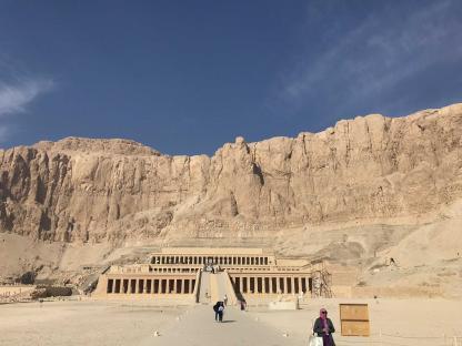 Temple de la reine Hatchepsout à Louxor dans un voyage en Égypte