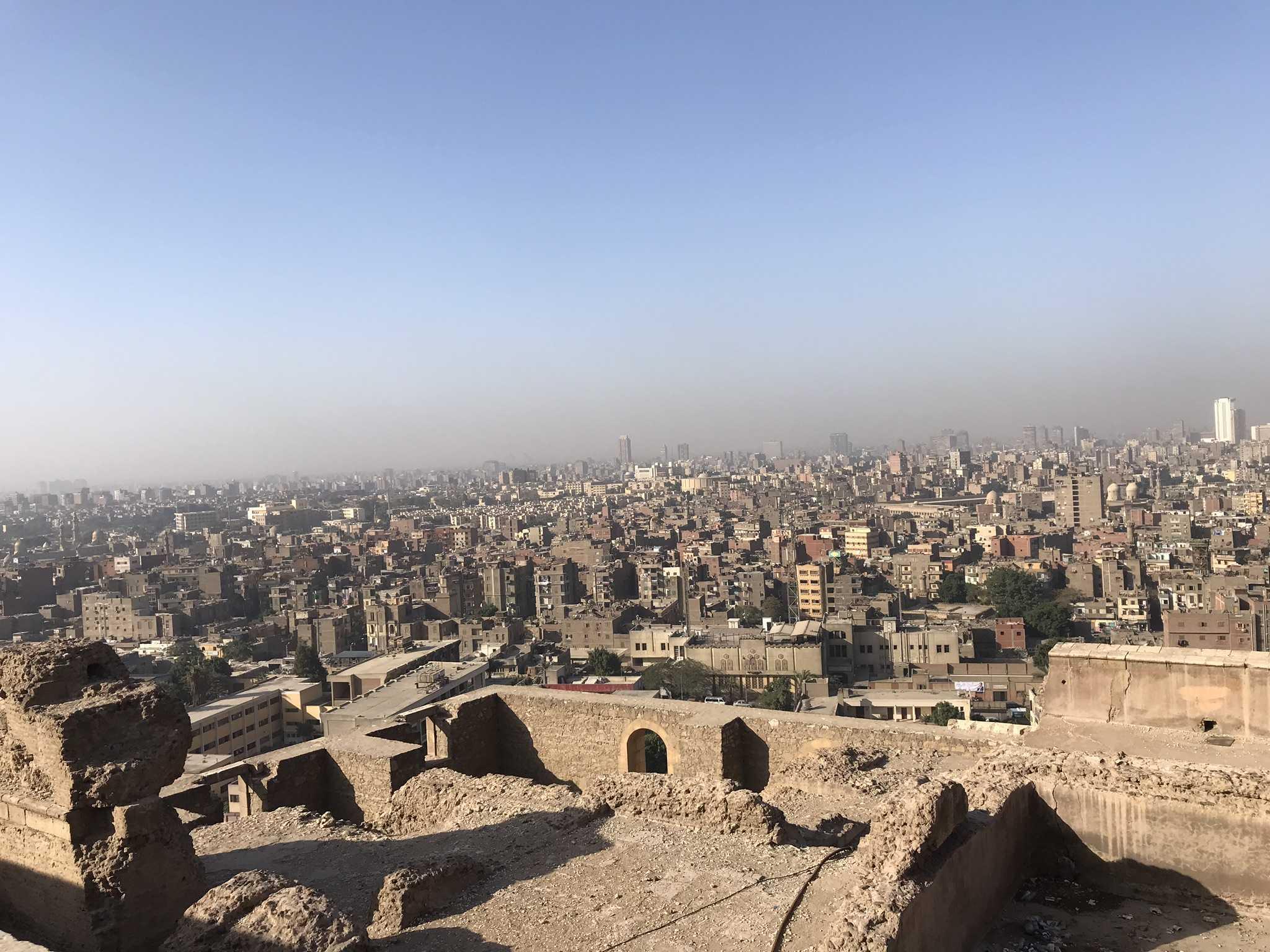 Vue du vieux Caire dans le circuit en Égypte