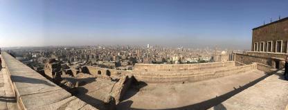 Vue du vieux Caire de la Citadelle de Saladin Mongolfière à Louxor en voyage en Égypte