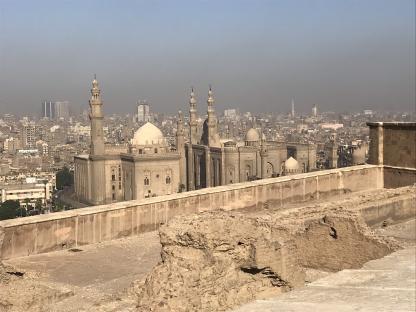 Vue du vieux Caire de la Citadelle de Saladin en voyage en Égypte