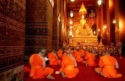 Temple en circuit en Thailande