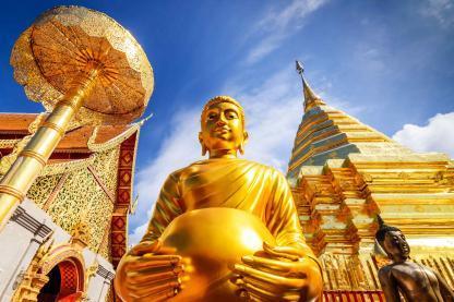 Temple en voyage en Thailande