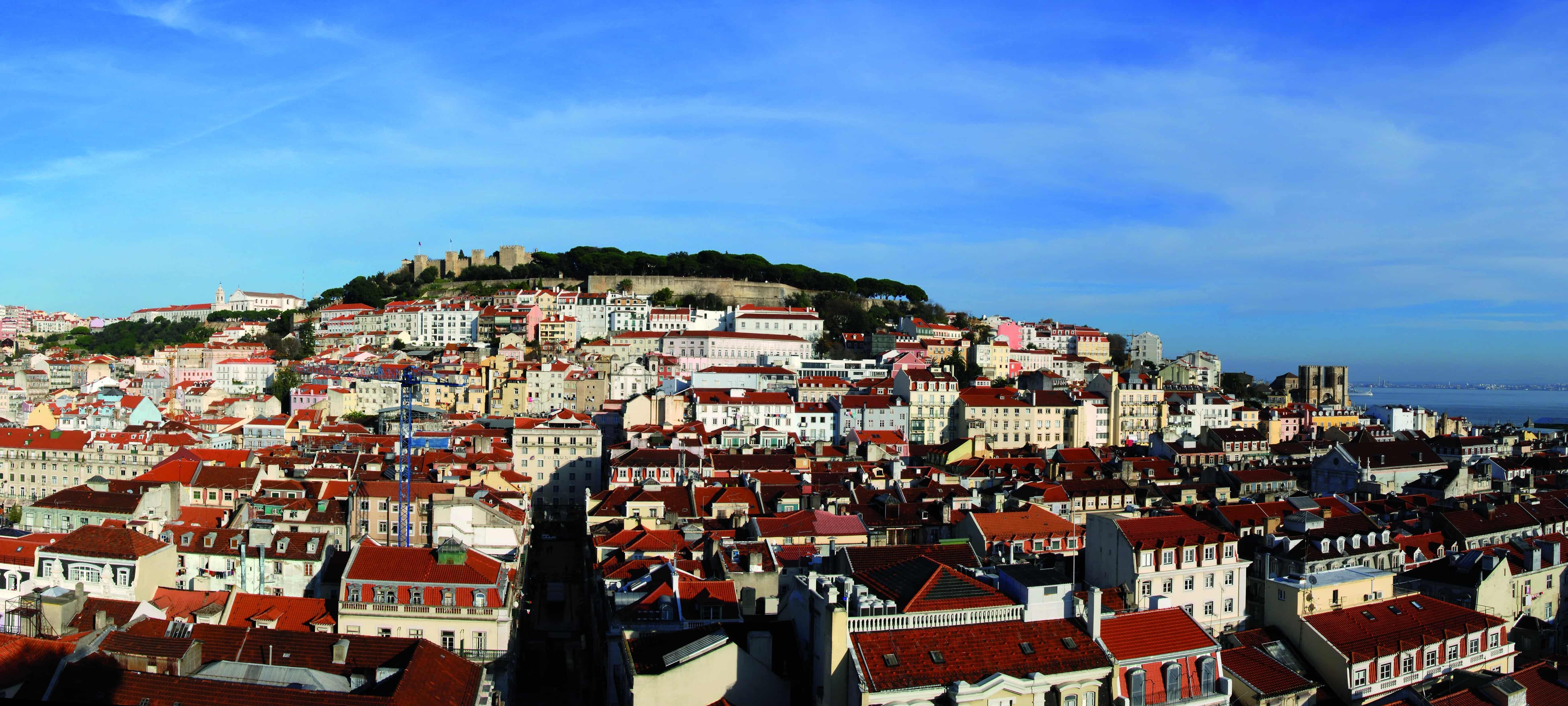 Vue panoramique de Lisbonne le jour en voyage au Portugal