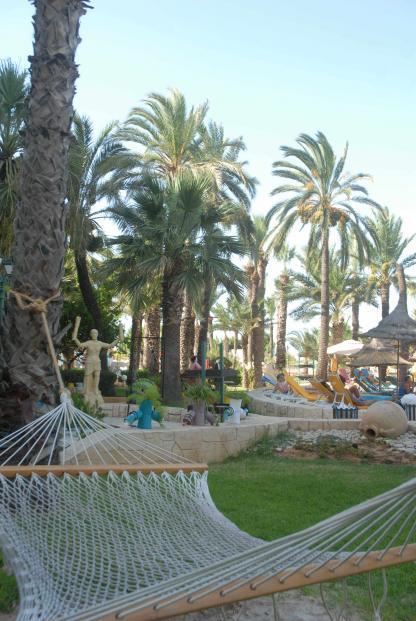 Jardin à l'Hôtel Riadh Palms à Sousse en Tunisie