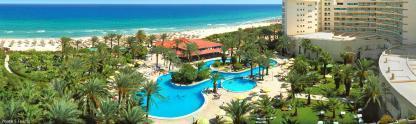 Vue panoramique générale à l'Hôtel Riadh Palms à Sousse en Tunisie