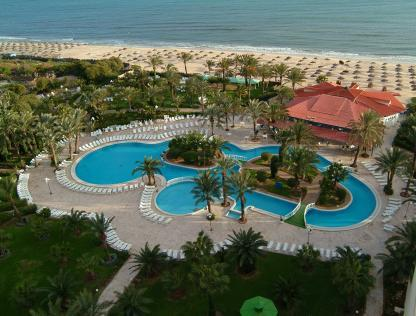 Vue panoramique à l'Hôtel Riadh Palms à Sousse en Tunisie