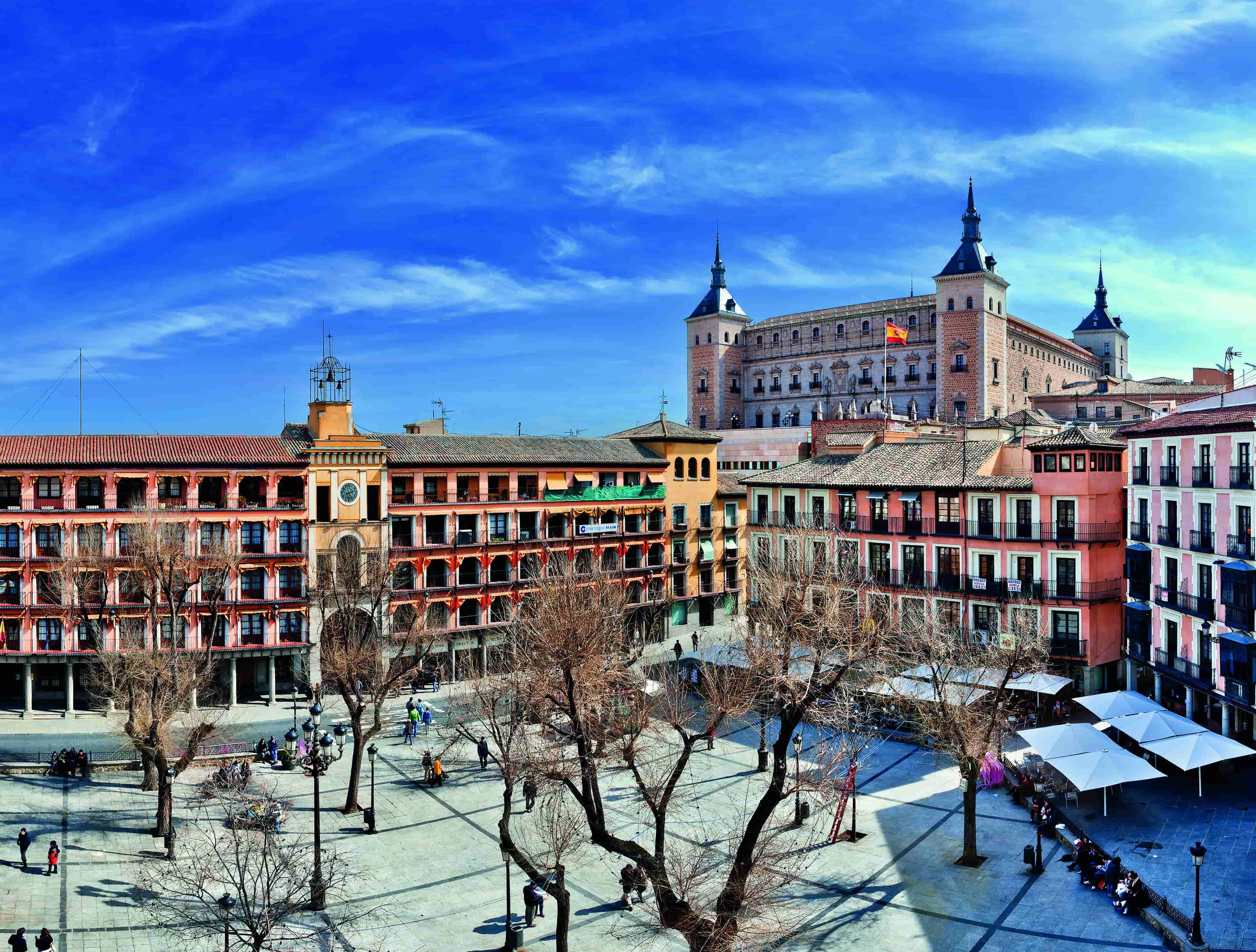 Plaza Zodocover à Tolède en voyage en Espagne