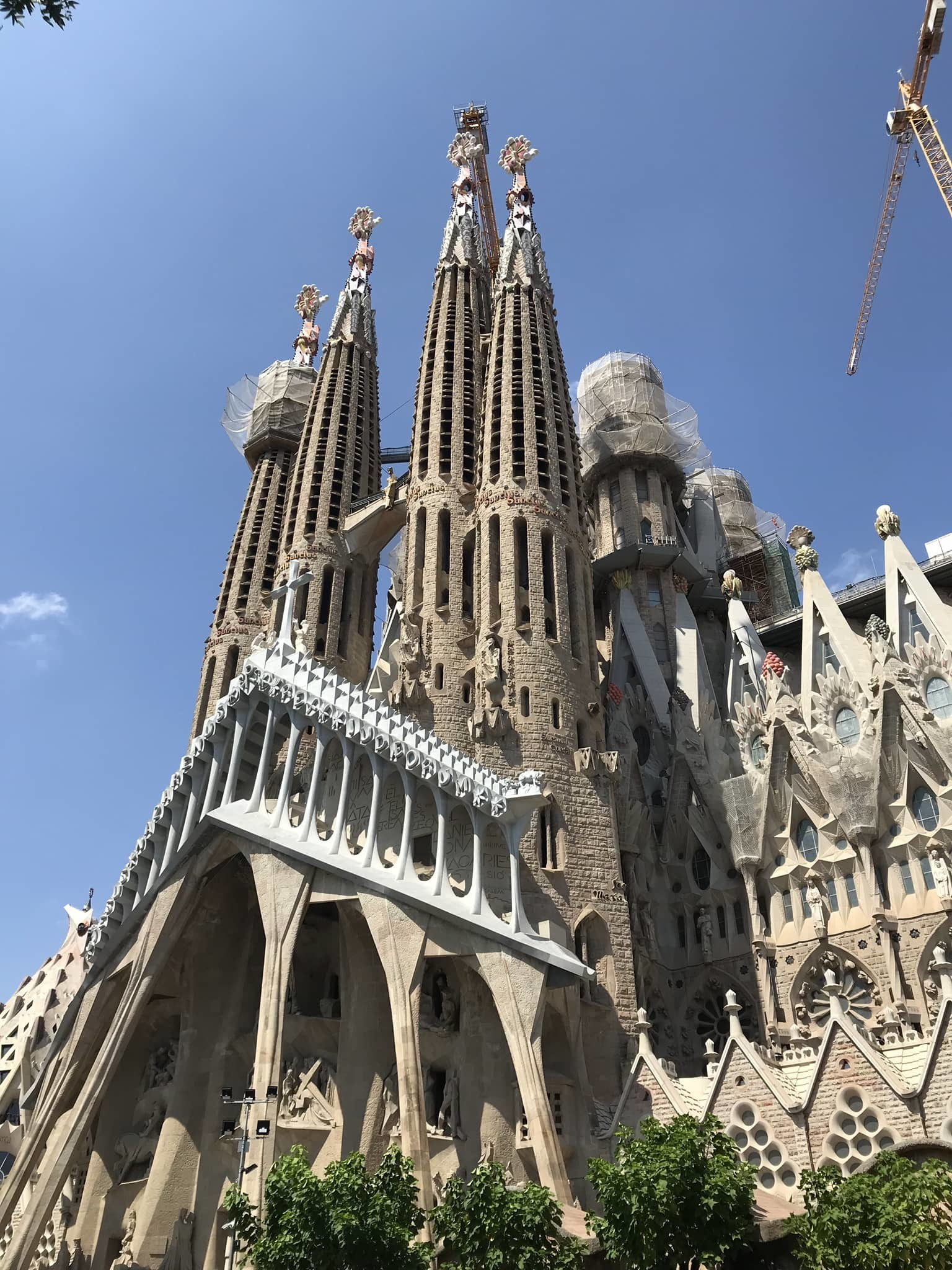 Sagrada Familia à Barcelone en voyage en Espagne