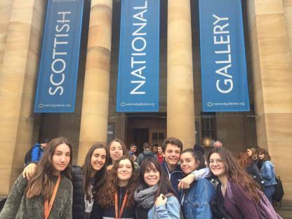 Visite de groupe en programme d'immersion anglaise à Édimbourg en Écosse