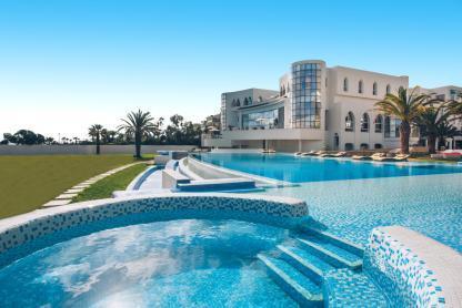 Piscine à l'hôtel Iberostar Kantaoui Bay en Tunisie