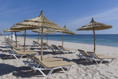 Plage à l'hôtel Iberostar Kantaoui Bay en Tunisie