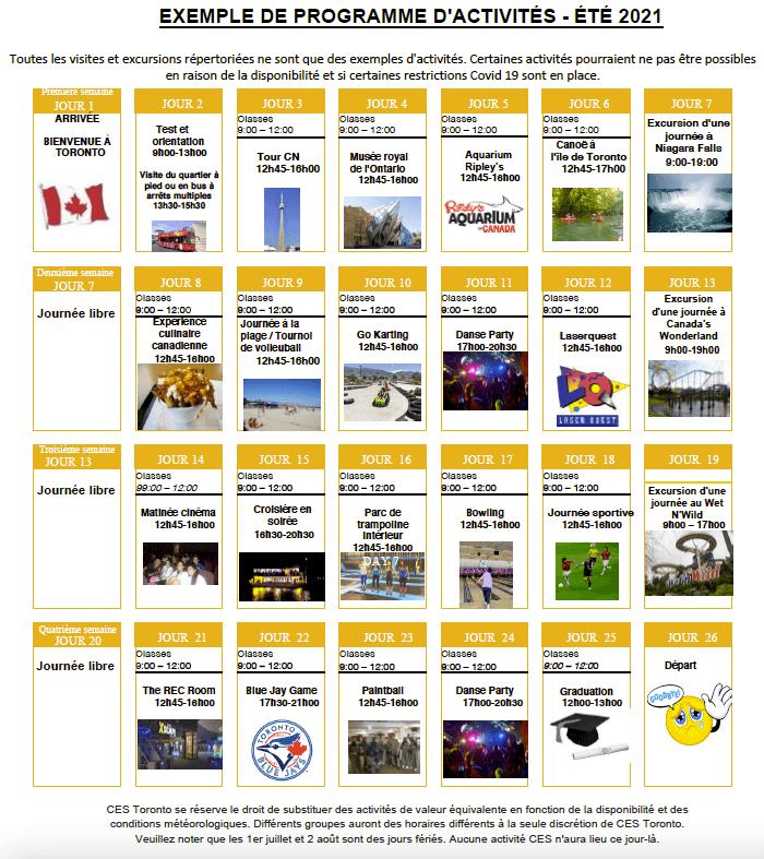 Camp multi-activités et anglais à Toronto
